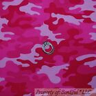BonEful Fabric FQ Cotton Quilt Pink Camo*uflage USA Military Army America*n Girl