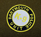 27700) Patch K-9 Unit Dartmouth Massachusetts Police Department Canine Sheriff