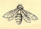 Honeybee BEE Wood Mounted Rubber Stamp IMPRESSION OBSESSION A8859 New