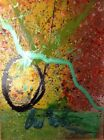 Original Ikebana Drawing Acrylic Painting by Dale Chihuly 2002 Framed 42x30