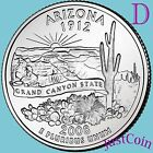 2008-D ARIZONA STATE (AZ) QUARTER UNCIRCULATED FROM U.S. MINT * STATE QUARTERS
