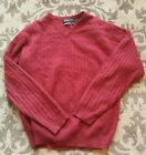 Daniel Bishop Men's Sweater 100% Cashmere Burgundy Size: Large L