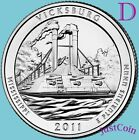 2011 D VICKSBURG NATIONAL MILITARY PARK ATB QUARTER UNCIRCULATED FROM US MINT