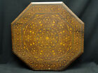 ANTIQUE CONTINENTAL WOOD MARQUETRY INLAY TABLE TOP / WALL ART PLAQUE ~ 22.5