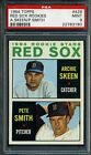 1964 TOPPS #428 RED SOX ROOKIES A.SKEEN P.SMITH PSA 9 *16351
