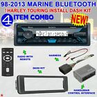 98 13 MARINE BLUETOOTH FOR HARLEY TOURING STEREO RADIO INSTALL ADAPTER DASH KIT