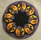PATTERN SpOOkY HaLLoWeEn Penny Rug Candle Mat Black Cats  Pumpkins PATTERN