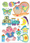 3D PUFFY BABY GIRL wall stickers 11 decals sparkle nursery decor booties rattle
