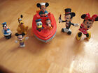 VTG Illco Cap'n Mickey Mouse & Friends Toy Boat Minnie Goofy Donald Duck Pluto