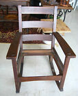 Antique Stickley Rocking Chair Rocker Mission Oak Arts Crafts