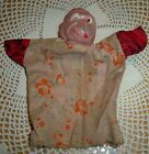 Vintage Paper Mache and Cloth Monkey Hand Puppet 1940's