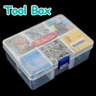 Plastic 6 Compartments Portable Storage Container Organizer Tools Box Case -US