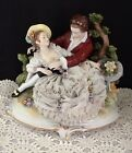 Antique German Porcelain Courting Couple Figurine Figure.                 #93