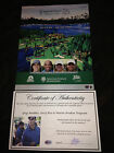 GREG MADDUX MARTIN BRODEUR JERRY RICE SIGNED AMERICAN CENTURY GOLF PROGRAM-COA