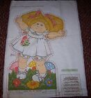 Vintage Cabbage Patch Kids Doll Pillow Fabric Panel - Cut Out & Sew