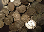 5 Silver War Nickels 1942-1945 Old Lot US Minted Silver Coins Barter With