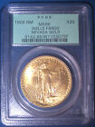 1908 No Motto WELLS FARGO $20 GOLD PCGS MS66 OGH ST GAUDENS Double EAGLE $3,250+