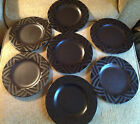 LOT of 8 Pfaltzgraff Midnight Sun Black Lunch / Salad Plates 8 inch Plate EUC