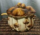Vintage ceramic Covered Soup Tureen Dish Server and Ladle