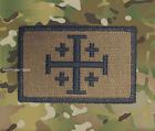 Jerusalem Cross Coyote Tan Burnt Bronze Velcro Morale Patch Infidel
