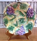Vintage Intrada Bowl Ceramic w/ Grapes and Leaves Vibrant Color