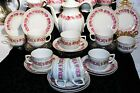 VTG PRE1940s BAKEUTHER WALDSASSEN BAVARIA GERMANY TEA COFFEE SET PINK ROSE GOLD