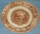 ANTIQUE AESTHETIC TRANSFER DINNER PLATE PHILEAU PATTERN TURNER & SONS 9 1/2