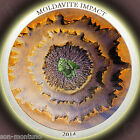 2014 - MOLDAVITE IMPACT - Silver Meteorite Color Curved Coin $5 Cook Islands