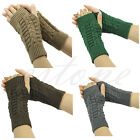 Girl Ladies Winter Unisex Arm Warmer Elbow Long Fingerless Mitten Knit Gloves