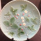 * ANTIQUE GERMAN MAJOLICA RARE STRWBERRIES Nice Cond Early 1900's #250