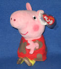 TY  PEPPA PIG MUDDY PUDDLES BEANIE BABY - NEW MINT with MINT TAGS - UK EXCLUSIVE