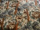 Snuggle cotton Flannel woodys print with wolf faces 2 1 4 yds