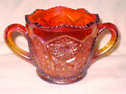 CARNIVAL SUGAR BOWL OR BOWL WITH HANDLES **RARE PIECE**INDIANA HEIRLOOM