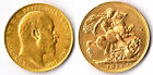 VERY RARE R2 1910C CANADA KING EDWARD VII FULL Sovereign GOLD COIN