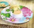 Tropical Floral Colorful Flowers Summer Outdoor Entertaining Melamine Chip