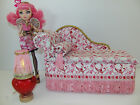 Ever After High Furniture  for Cupid doll *Chaise Bed + Heart Table+ Lamp*Works!