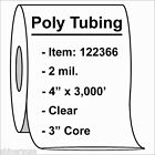 """2 mil Poly Tubing Roll 4""""x3000'  Clear Heat Sealable  122366"""