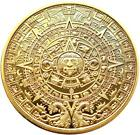 Mayan Coin or Mayan Calendar Gold Pure 24K .999 1oz Clad Bullion Coin Bar