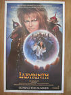 Movie Poster: LABYRINTH   Original American One Sheet Advance Style  David Bowie