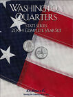 8HRS2587 2004 COMPLETE YEAR SET STATE SERIES QUARTERS HARRIS ALBUM FOLDER 5/11
