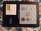 Coin Sets of All Nations Chad 1976 -1985 2 coins  1978 UNC w/card Central Africa