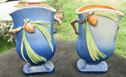 Very Rare Pair of Roseville Pottery Pine Cone Vases 7