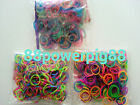 900 Mixed Color 3 Styles (A) Loom Rubber Bands & 24 S Clips US Seller