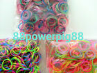 900 Mixed Color 3 Styles (C) Loom Rubber Bands & 24 S Clips US Seller