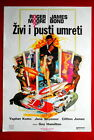 007 JAMES BOND LIVE AND LET DIE ROGER MOORE SEYMOUR 1973 RARE EXYU MOVIE POSTER