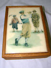 Wooden Box with Old Time Golfers Tile Top 7