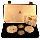 1987 Isle of Man Constitution Bicentennial 4 Crown Set Silver, Gold