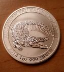 2014 Saltwater Crocodile Perth Mint One Ounce 999 Fine Silver Coin