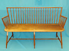ANTIQUE 19 c AMERICAN / NEW ENGLAND ATTRIB. BAMBOO TURNED WINDSOR SETTEE