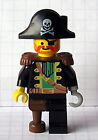 Lego PIRATE CAPTAIN RED BEARD MINIFIG w/ hook 6285 epaulette minifigure pi055